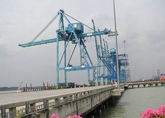 CT4 Wharf and Access Bridges at Westport, Malaysia